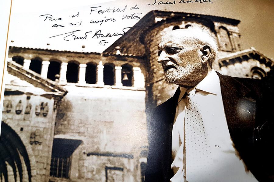 Ernest Ansermet photo souvenir d'un programme d'époque à Santander (c) GAD