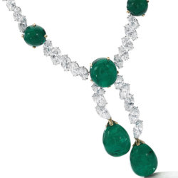 Collier Cartier en émeraudes de Colombie et diamants Magnificent Jewels and Noble Jewels Sotheby's Geneva 2019