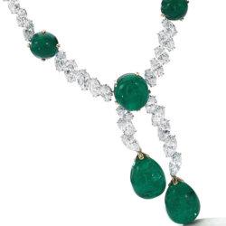 Collier Cartier en émeraudes de Colombie et diamants Magnificent Jewels and Noble Jewels Sotheby's Geneva 2019