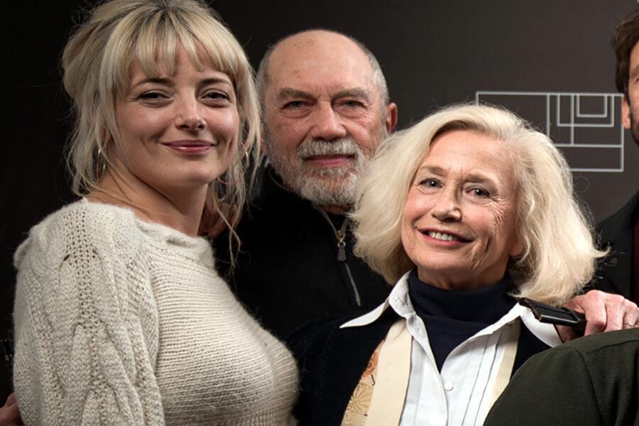 Laura Sipul, Féodor Atkin et Brigitte Fossey l'équipe de Quartier des Banques