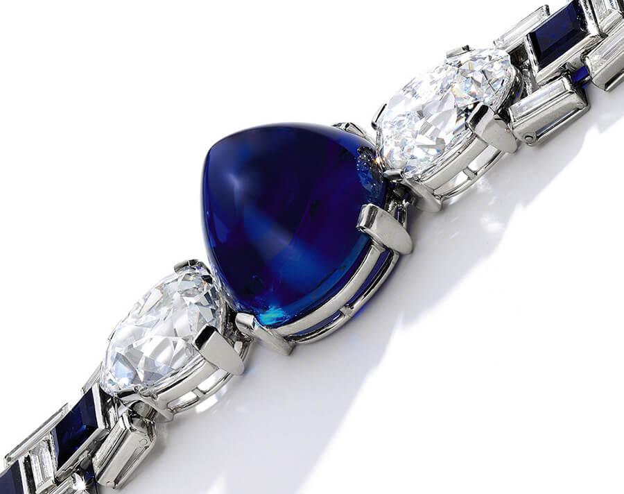 Bracelet Cartier 1927, saphirs et diamants