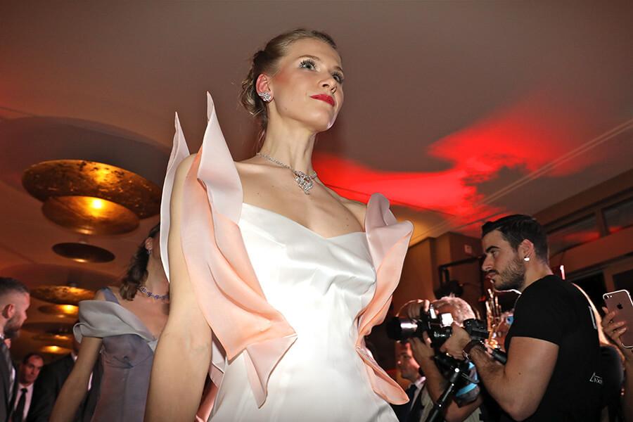 Défilé Nataliya Dolenko, bijoux Chopard, coiffure et maquillage L. RAPHAEL