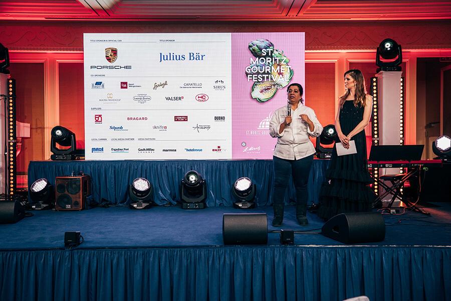 Porsche Gourmet Finale 2020 Asma présentée sur la scène du Suvretta House