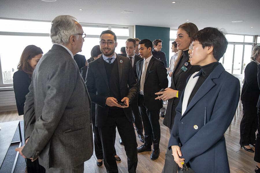 Alain Ducasse rencontre avec les étudiants de l'Institut des Hautes Etudes de Glion