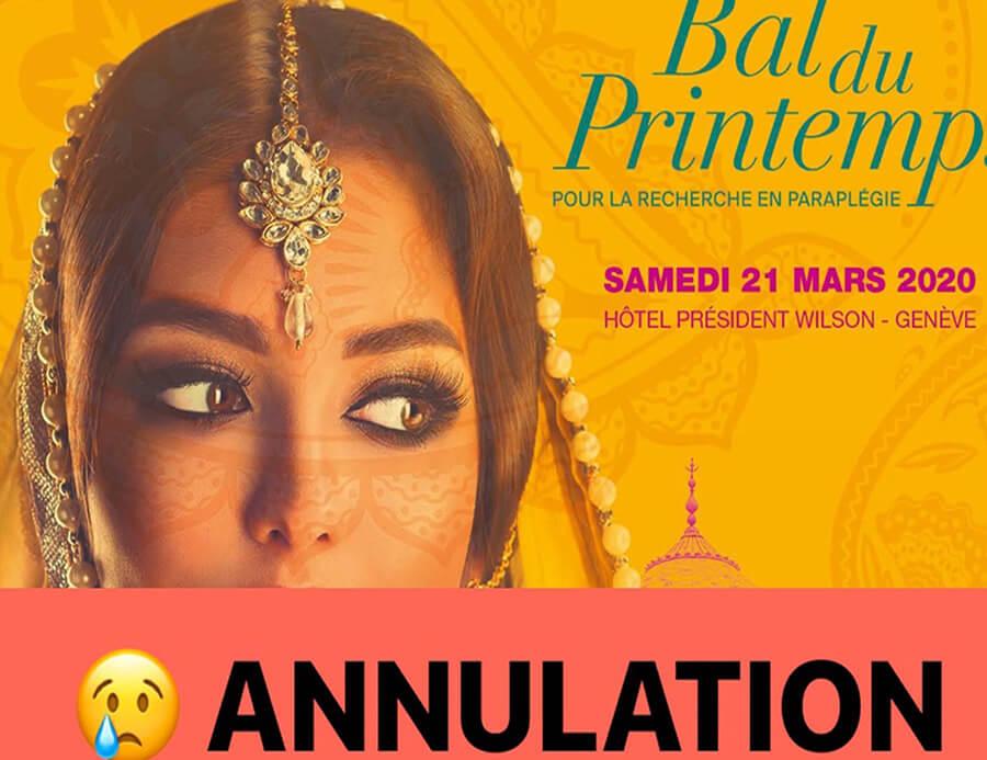 Avec la tristesse dans l'âme Touch of India affiche de l'annulation du Bal du Printemps 2020