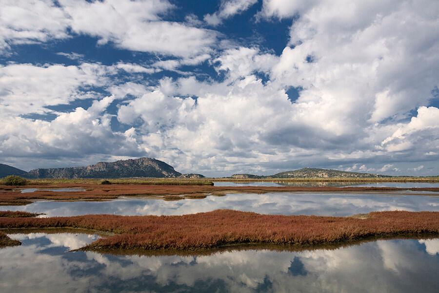 (c) Costa Navarino le Lagon de Gialova réputé pour son eco système