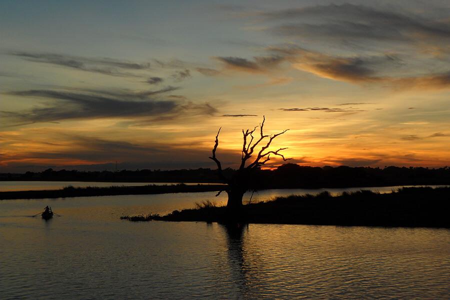Paysage sur le fleuve de l'Irrawady à Myanmar (c) GAD