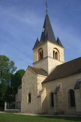 Magnifique clocher de l'Eglise au fil de l'eau à Gissey