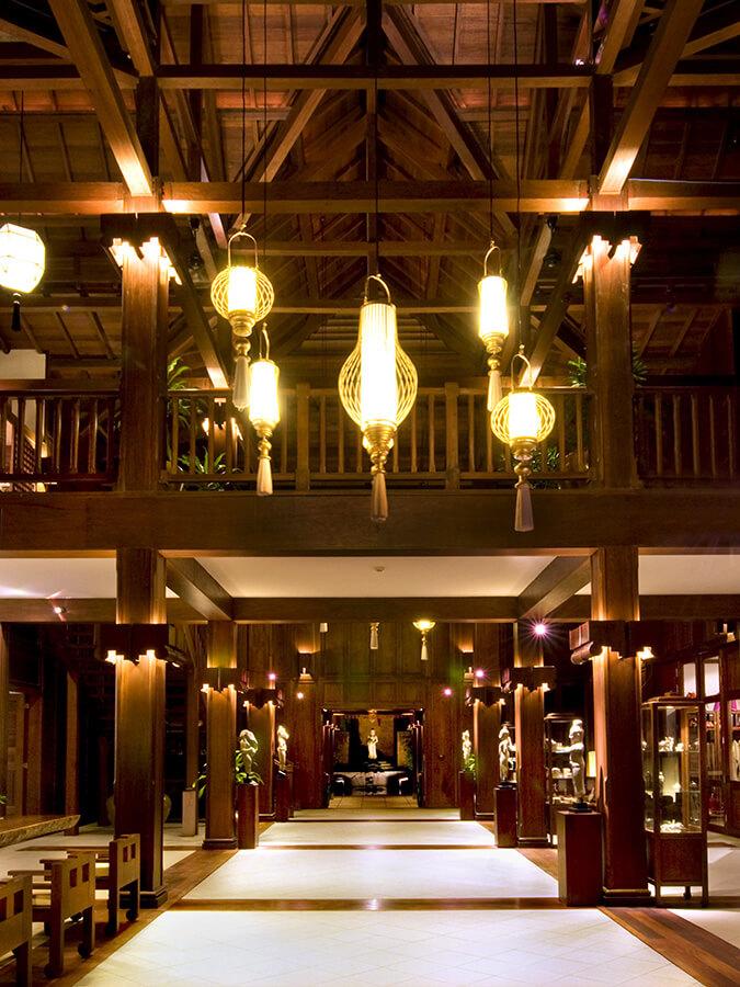 Le Lobby accueillant de la Résidence d'Angkor