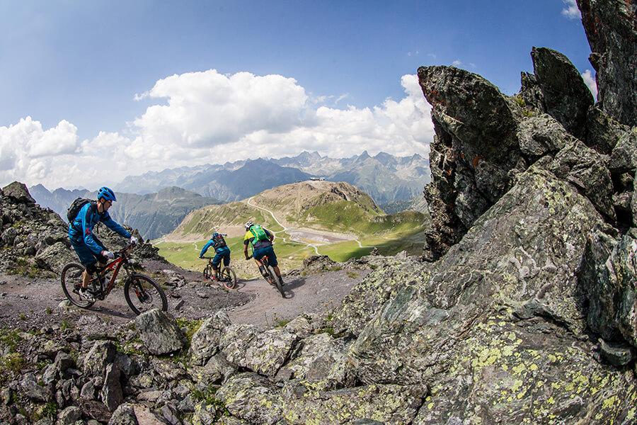 Les pistes de mountainbike dans la région de Paznaun (c) TVB Paznaun – Ischgl
