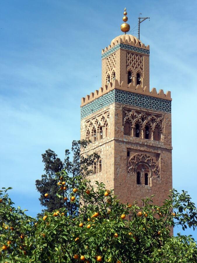 La Koutoubia minaret de la mosquée emblème de Marrakech (c) GAD