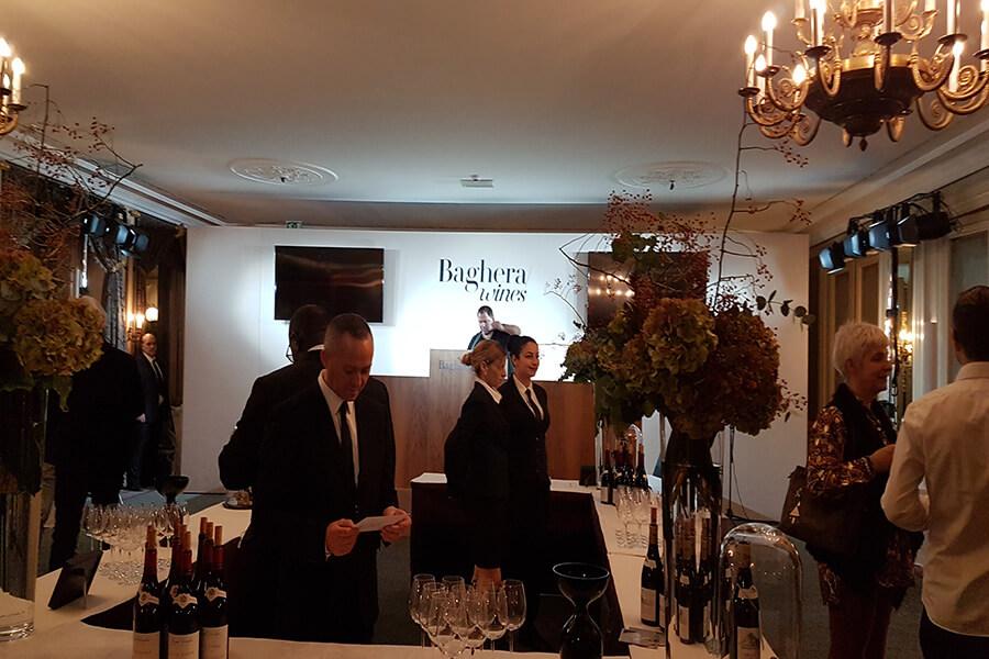 Baghera wines cocktail au Beau Rivage Genève en avant première de ventes