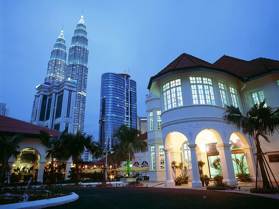 Aperçu de la capitale Kuala Lumpur et des 2 Tours Petronas