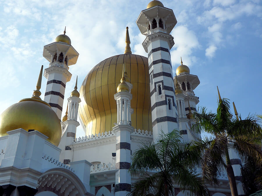 Ubudiah Mosque de Perak aux superbes dômes dorés Perak