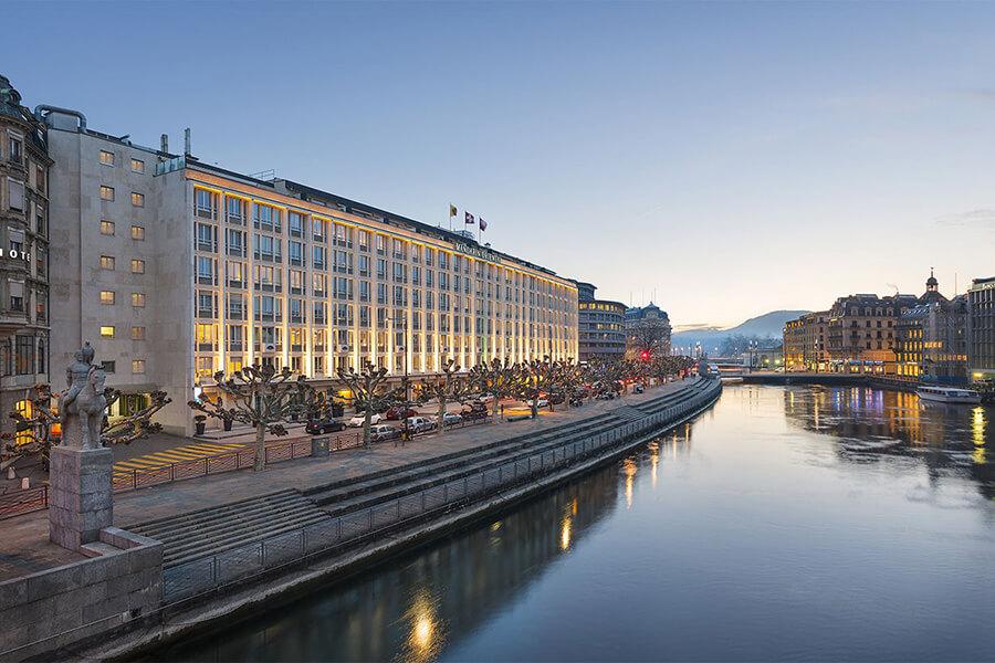 Hôtel Mandarin Oriental Genève vue sur le Rhône