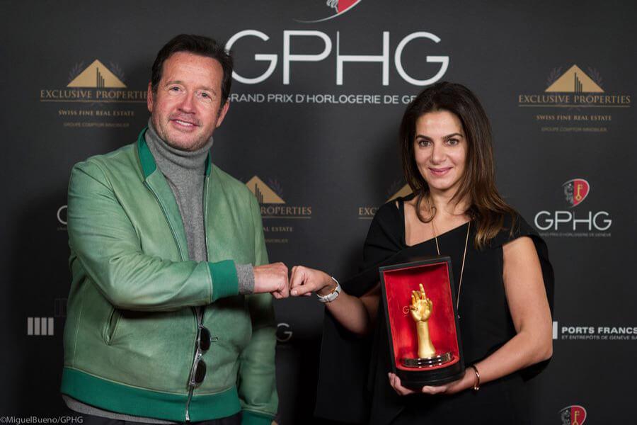 Chabi Nouri recevant son Prix de F-H. Bennahmias Prix Aiguille d'Or 2019 (c) MiguelBueno-