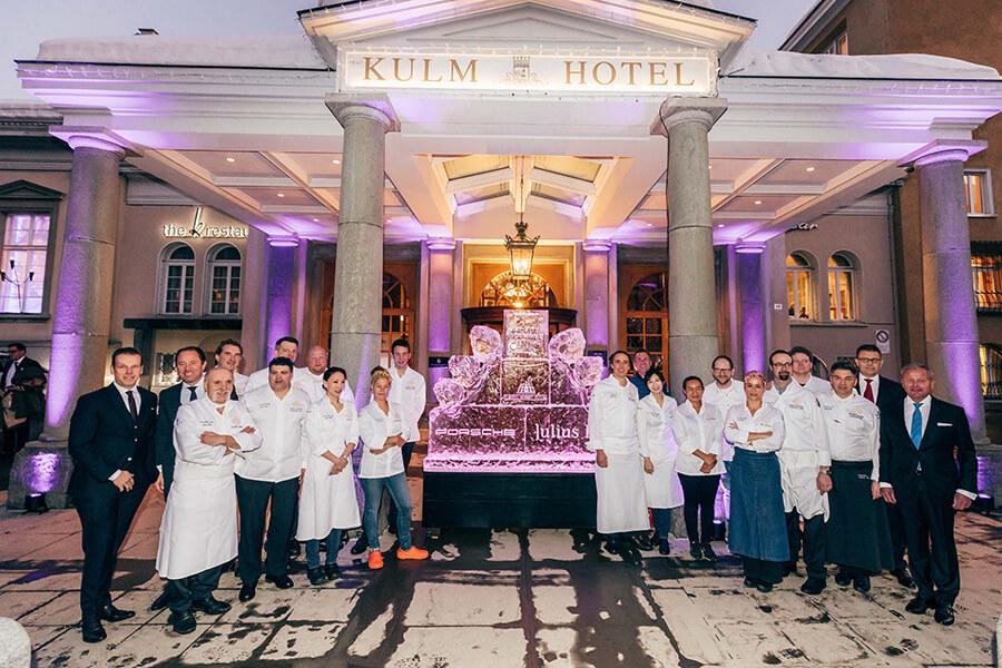 Cérémonie d'ouverture Grand Julius-Baer St Moritz Gourmet Festival 2020 avec les Chefs résidents et invités