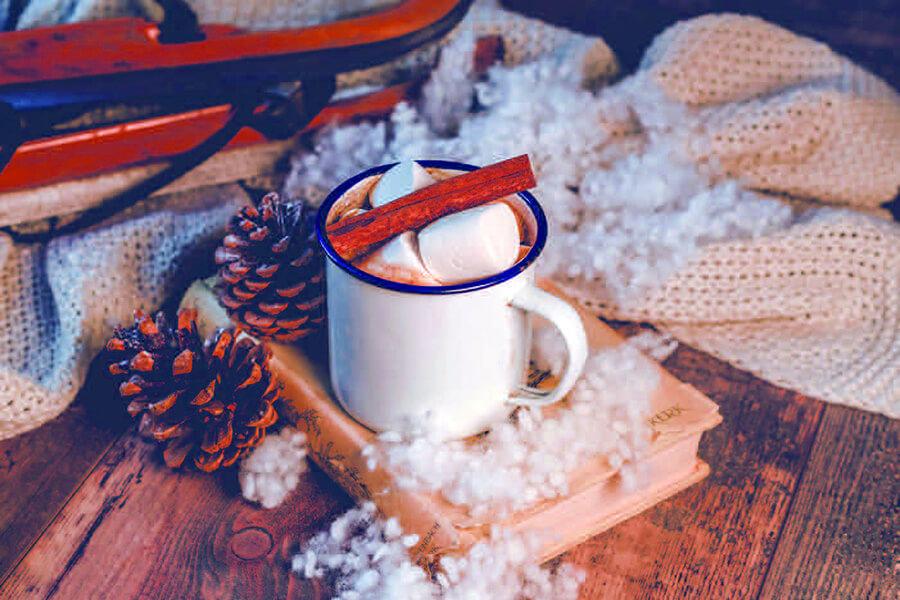 Au Chocolate Bar délices d'hiver dans l'ambiance chaleureuse de sommets enneigés