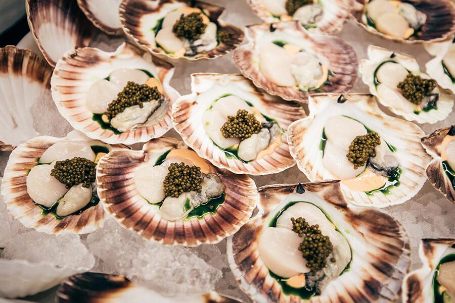 Incontournable Kichen Party St Moritz Gourmet Festival 2020 les délices servies lors du dîner.