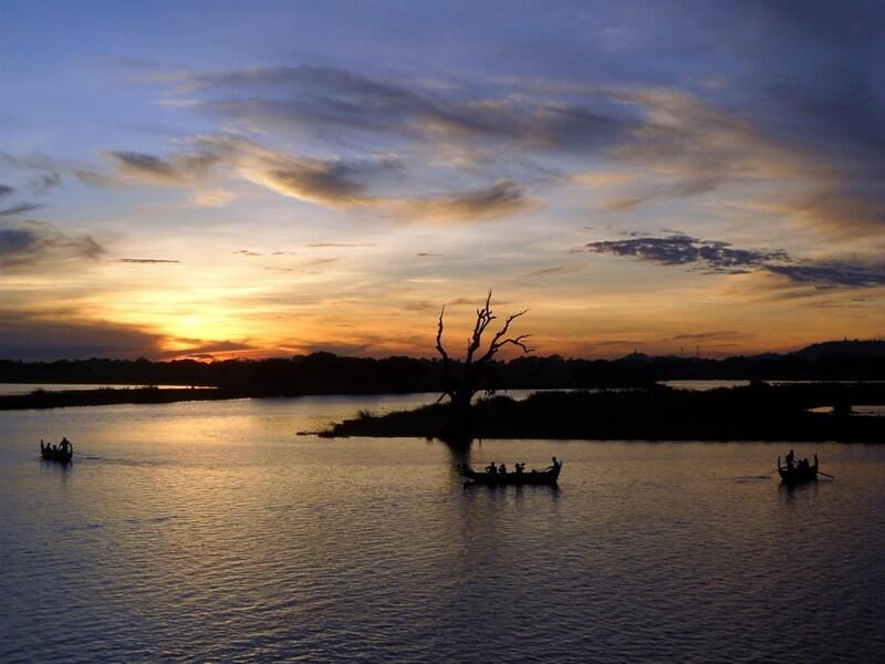 Vue sur le fleuve Irrawaddy au coucher du soleil (c)GAD