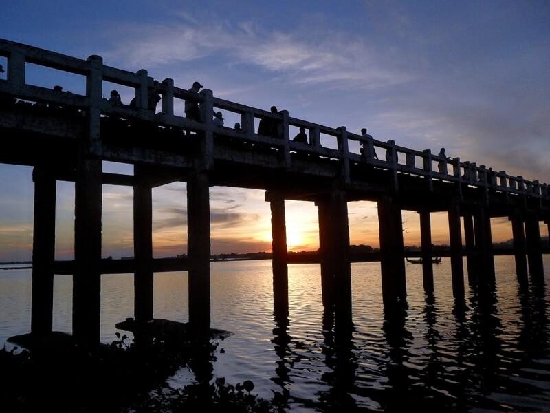 Le Pont d'U-Bein le plus long pont en teck du monde (c)GAD