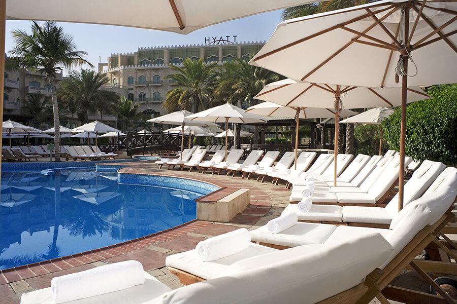 Grand Hyatt Hotel à Mascate détente au solarium (c) OT Oman