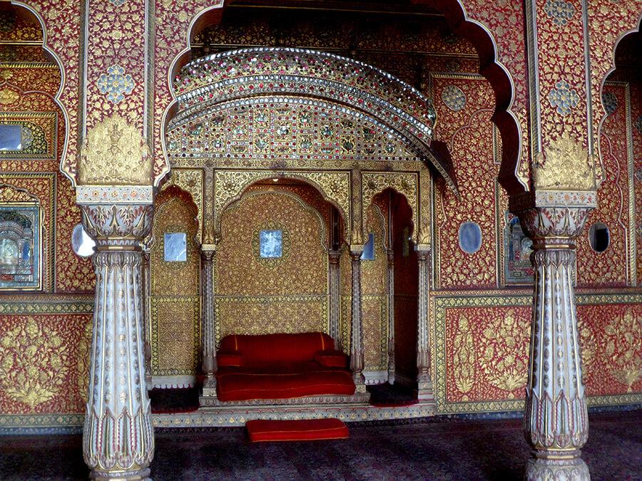 Bikaner l'exceptionnelle salle du trône