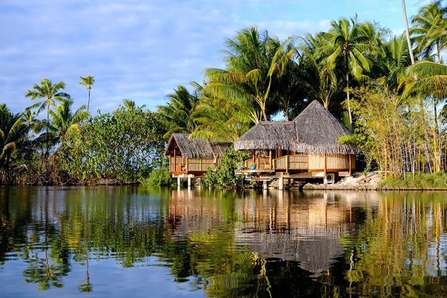 Hôtel partenaire de Traveller Made Asia Pacific Le Tahaa by Pearl Resorts charme des résidences sur pilotis (c)TM Gallery