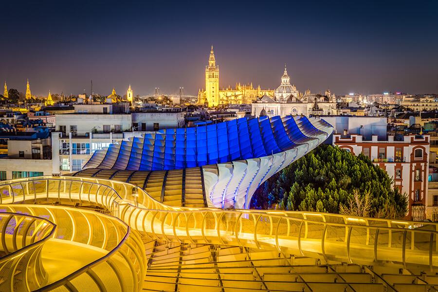 Une vue insolite sur Sevilla Las Setas en Andalousie partenaire de Traveller Made (c) TM Gallery.