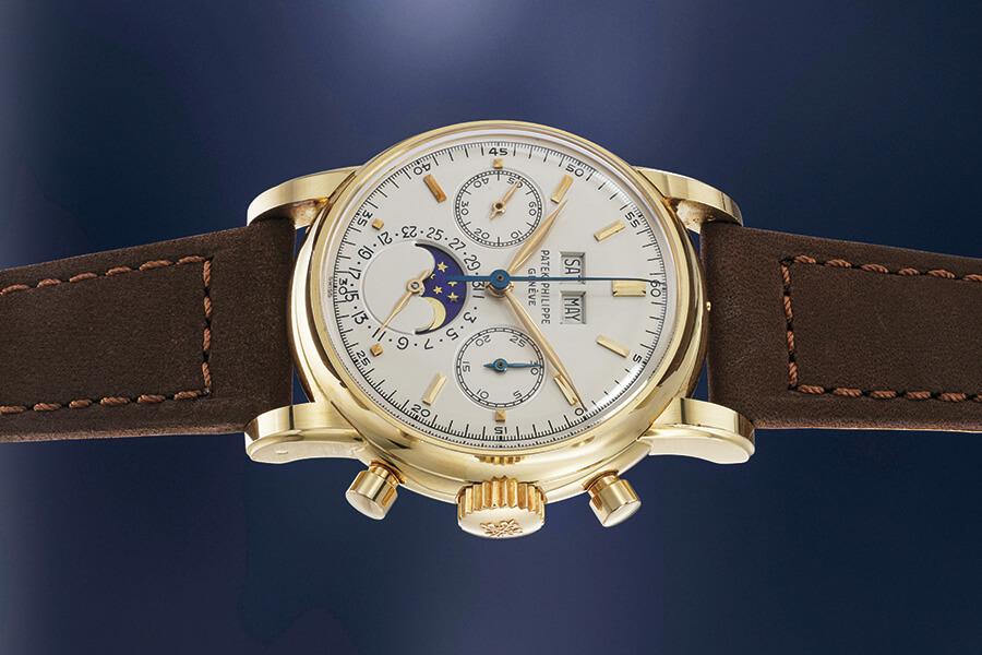 Exceptionnelle et très rar e montre-bracelet Patek Philippe en acier dont les enchères ont culminé à CHF 852 000 Lot 100