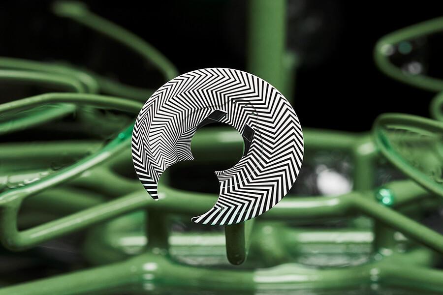 Freak Razzle Dazzle avec le motif de camouflage utilisé par les mavires militaires et en Art Contemporain