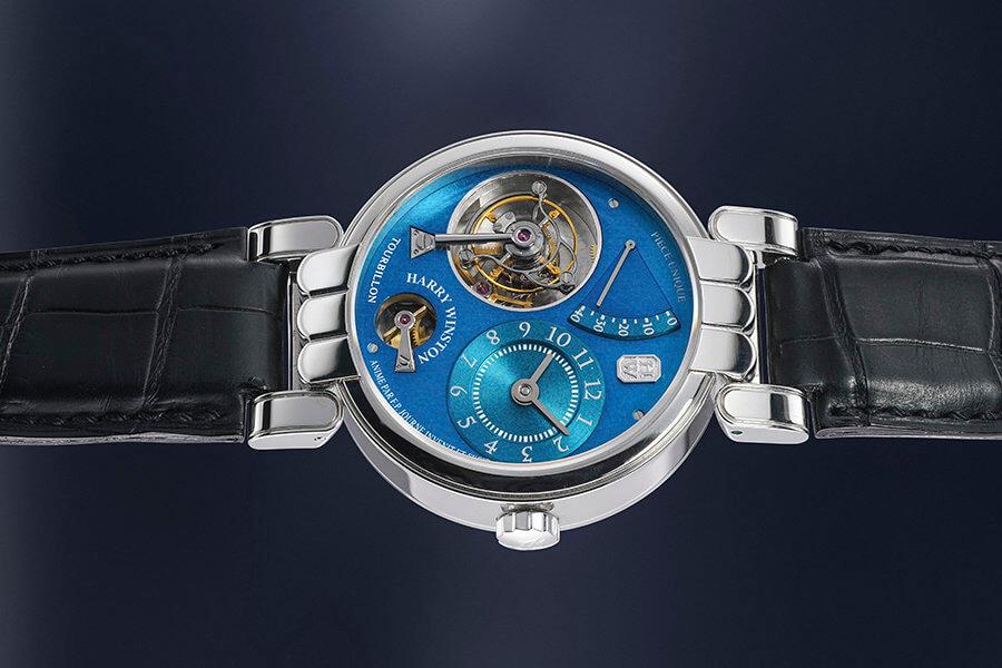 Harry Winston et FP Journe une unique montre-bracelet tourbillon avec certificat et écrin d'origine Lot 142