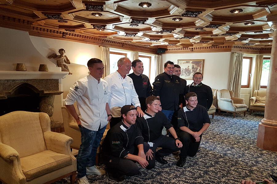 Conférence de presse avec les Chefs et Jeunes Chefs de Paznaun avant le dîner de gala au Trofana Royal à Ischgl (c) GAD