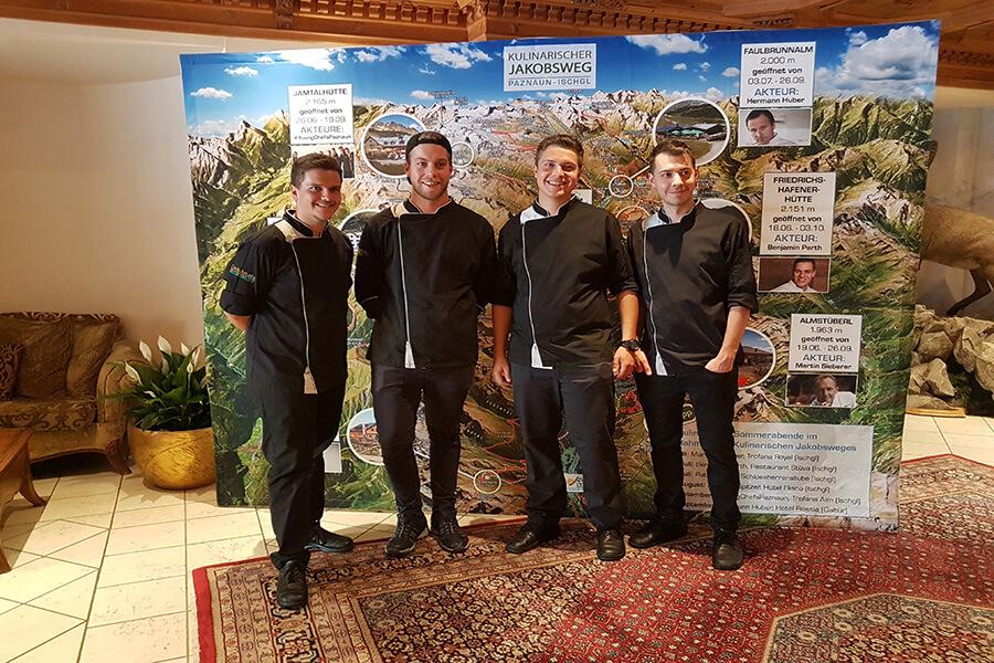 Une première apparition officielle des Jeunes Chefs de Paznaun à l'Hôtel Trofana à Ischgl (c)GAD