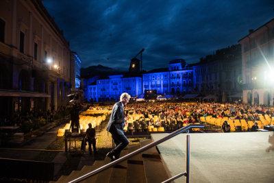 Marco Solari President, 74e Locarno Film Festival, lancement sur la Piazza Grande © Alessandro Crinari