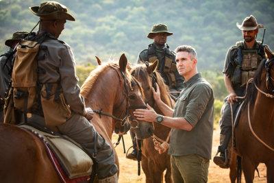 Avec les Rangers de Kruger Park en Afrique du Sud Kevin Pietersen (c) Hublot