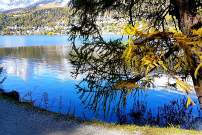 Cheminement en bordure de lacs et de forêts au sein de paysages éblouissants (c) GAD