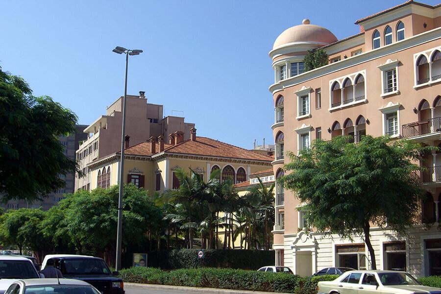 Beyrouth élégant quartier résidentiel en ville (c) GAD