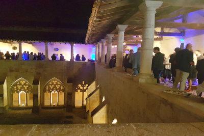 Le premier week end du Festival a été marqué par un cocktail des autorités de la région à l'Abbaye d'Ambronay (c) GAD